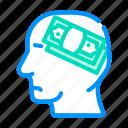 man, thinking, about, money, corruption, problem