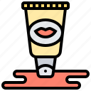 balm, gloss, lip, makeup, tube icon