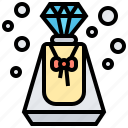 bottle, glamour, perfume, scent, smell icon