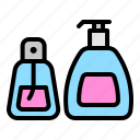 bottle, container, cosmetic, liquid, perfume, pump bottle icon