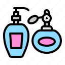 bottle, container, cosmetic, perfume, pump bottle, spray icon
