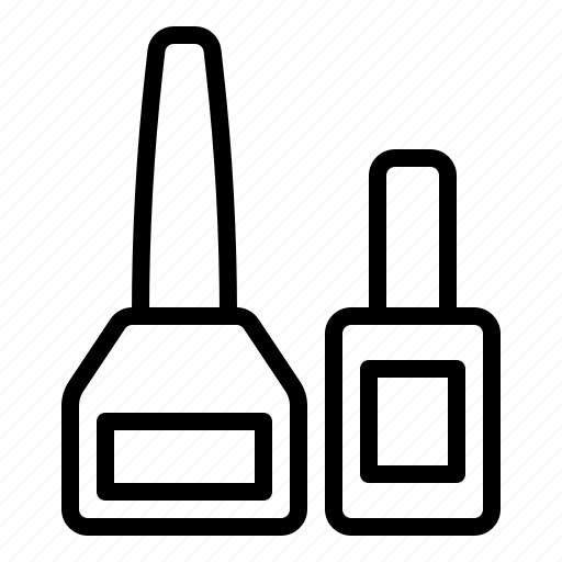 bottle, container, cosmetic, nail polish, perfume icon