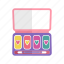 beauty, eyeshadow, fashion, female, makeup, palette, texture icon