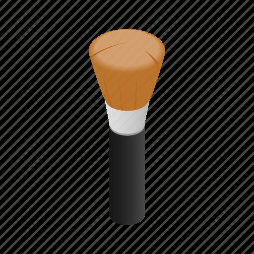 beige, bristle, brush, cosmetic, isometric, makeup, powder icon