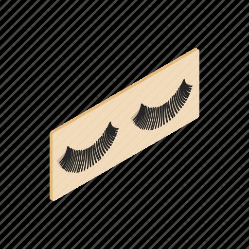cosmetic, eye, eyelash, fake, false, imitation, isometric icon