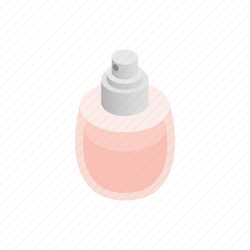 beauty, bottle, cosmetic, isometric, liquid, perfume, spray icon