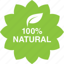 cosmetics, hundred, leaf, natural, percent icon