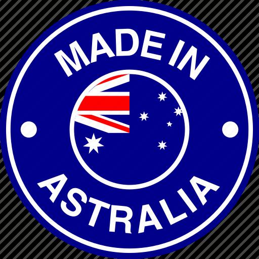 australia, australian, flag, made icon