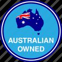 australia, australian, flag, map, owned
