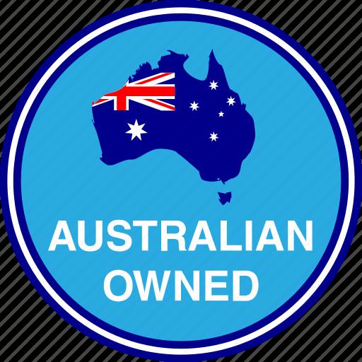 australia, australian, flag, map, owned icon