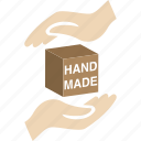 box, hand, made, product, ready icon