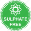 atom, clear, cosmetics, free, safe, sulphate icon