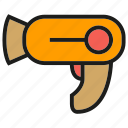 device, electronic, hair dryer icon