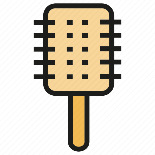 beauty, comb, fashion, hairbrush, product icon