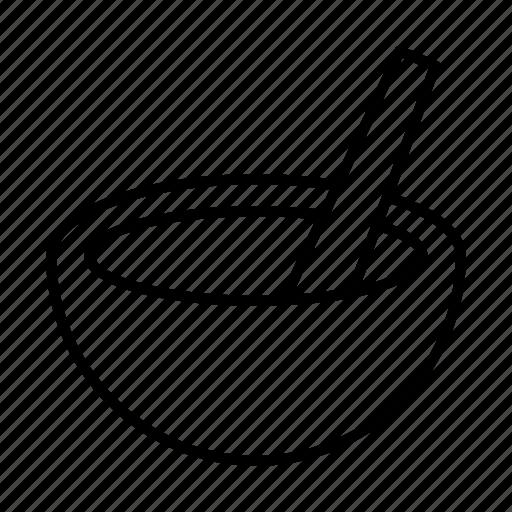 bowl, cooking, healthcare, medicine, pound, pounder, treatment icon