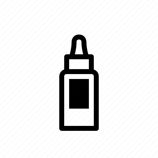 cosmetic, girl, oil, packaging, woman icon
