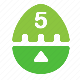 egg, kitchen, timer icon