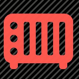 radiator, warm icon