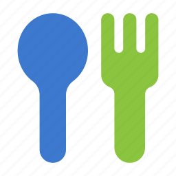 baby, child, food, fork, meal, spoon icon