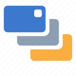 card, credit, credit card, debit card, multi icon