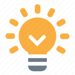bulb, electric, energy, idea, lamp, on icon