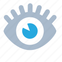 blue, eye, look, see, view, watch icon