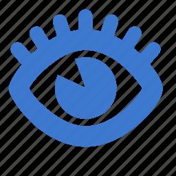 eye, eyelash, view, vision icon