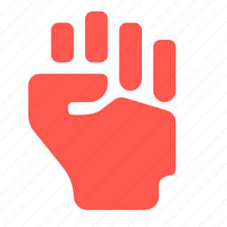 fist, freedom, hand, will icon