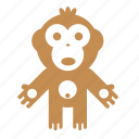animal, forest, monkey, nature icon