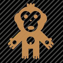 animal, forest, monkey, nature icon