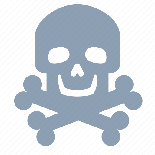bones, danger, jelly roger, skull icon