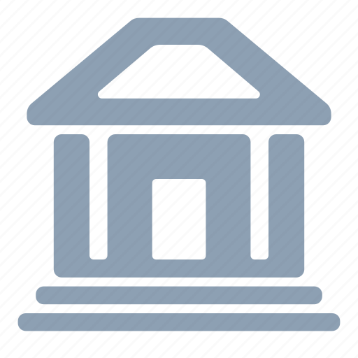 bank, building, estate, finance, money icon