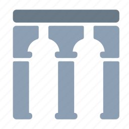 architecture, bridge, building, city, column, pillars icon