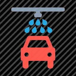 car, transport, vehicle, wash, water icon