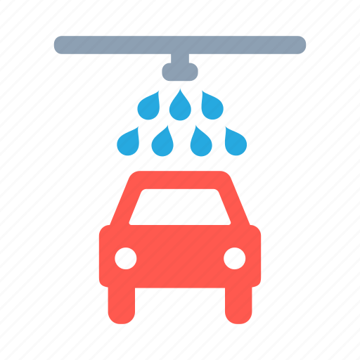 car, transport, vehicle, wash, water icon