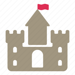 ancient, building, castle, flag, fortress, medieval icon