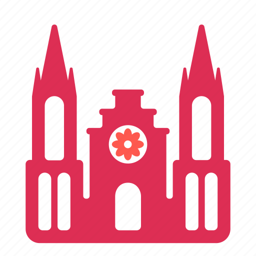building, catholic, church, showcase, sight icon