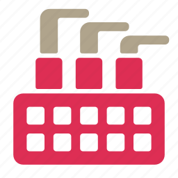 company, corporation, factory, office, work icon