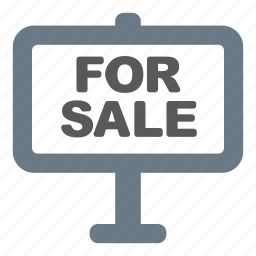 estate, for, for sale, plate, sale icon