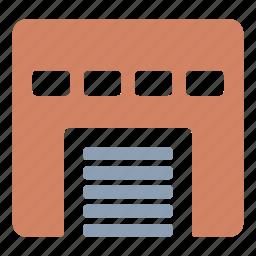building, garage, hangar, storage, warehouse icon