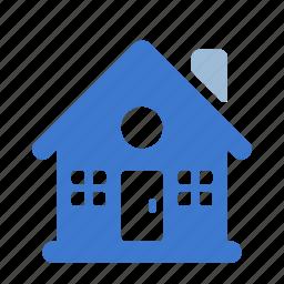 architecture, building, estate, home, house, village icon