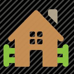 building, farm, home, village icon