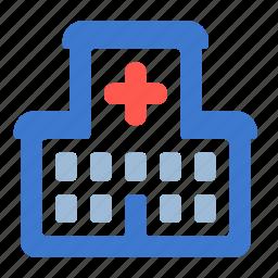 building, clinic, healthcare, hospital, medicine icon