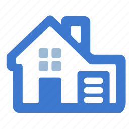 cabin, cottage, estate, garage, house, village icon