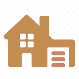 building, estate, garage, home, house, property icon