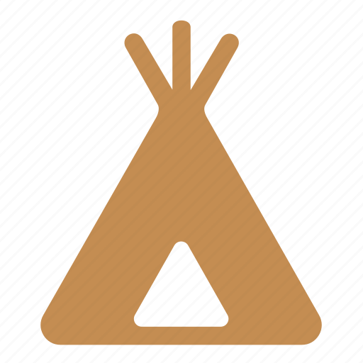 camp, hovel, indians, tent, wigwam icon