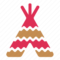 camp, hovel, hut, indians, tent, wigwam icon