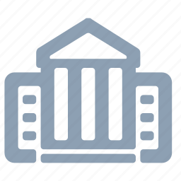 ancient, bank, library, museum, pillars icon