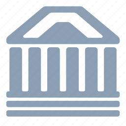 ancient, bank, building, court, library, museum icon
