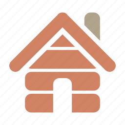 cabin, home, house, hut, log, village icon